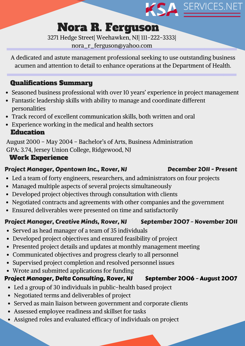 sample-ses-resume Sample Federal Job Resume Format on for high school students, job application,